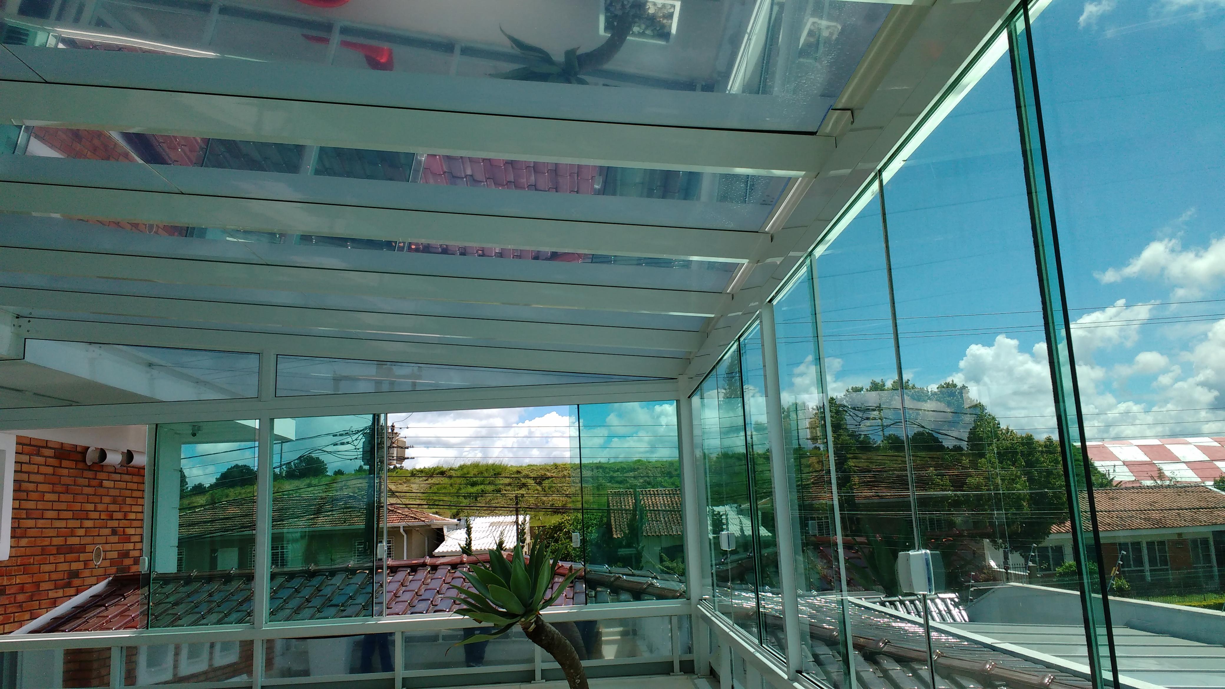 Coberturas de Vidro em Curitiba Vidraçaria Curitiba #387B93 4160 2340