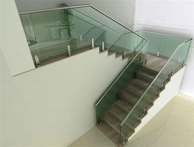 Resultado de imagem para corrimão de vidro
