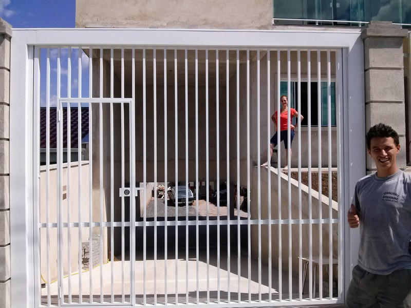 manutenção em portão de ferro em curitiba